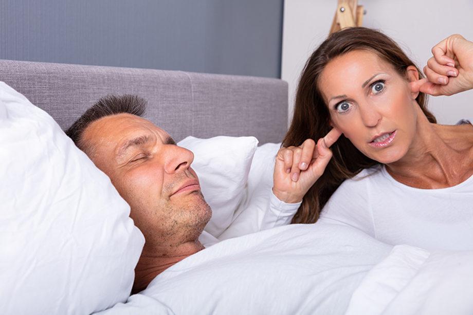 Woman kept awake by snoring