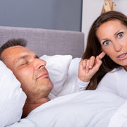Woman kept awake by snoring
