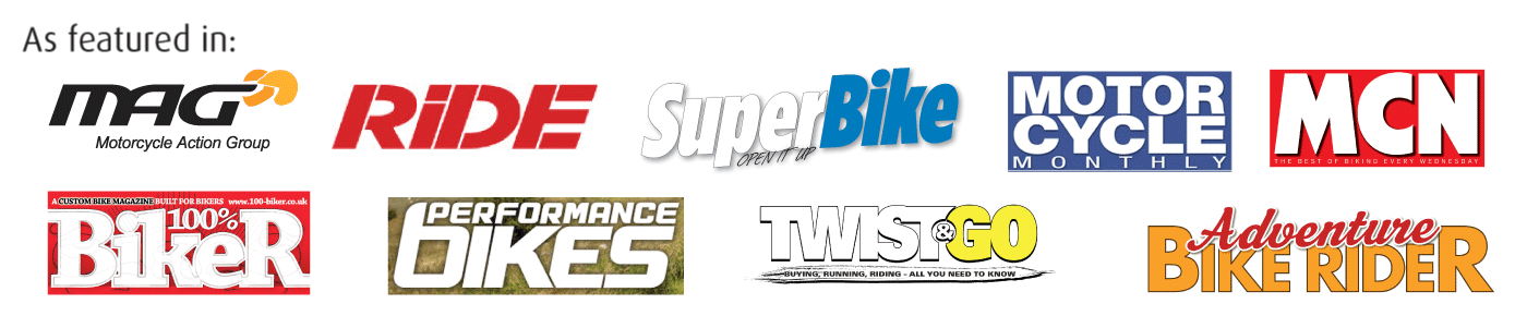 Some of the motorcycle and motoring publications that have featured Auritech earplugs